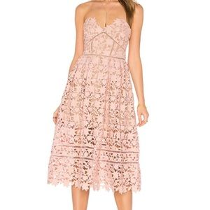 Self-Portrait Azaelea Dress, Size 4 Blush Pink